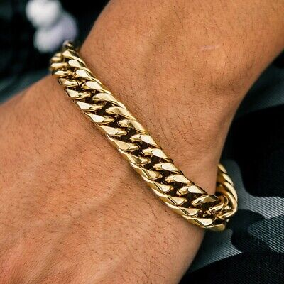 The Gold Gods Curved Cuban Link 8