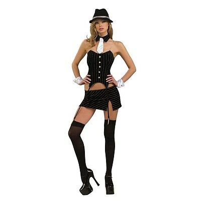 Rubies Costume's Women's NLP MS. Gangster Item 888774 Sexy Mob Girl Outfit
