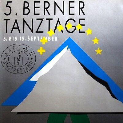 5. BERNER TANZTAGE Bern 1991 Original Plakat MODERN ART Ursula Schwendimann TOP