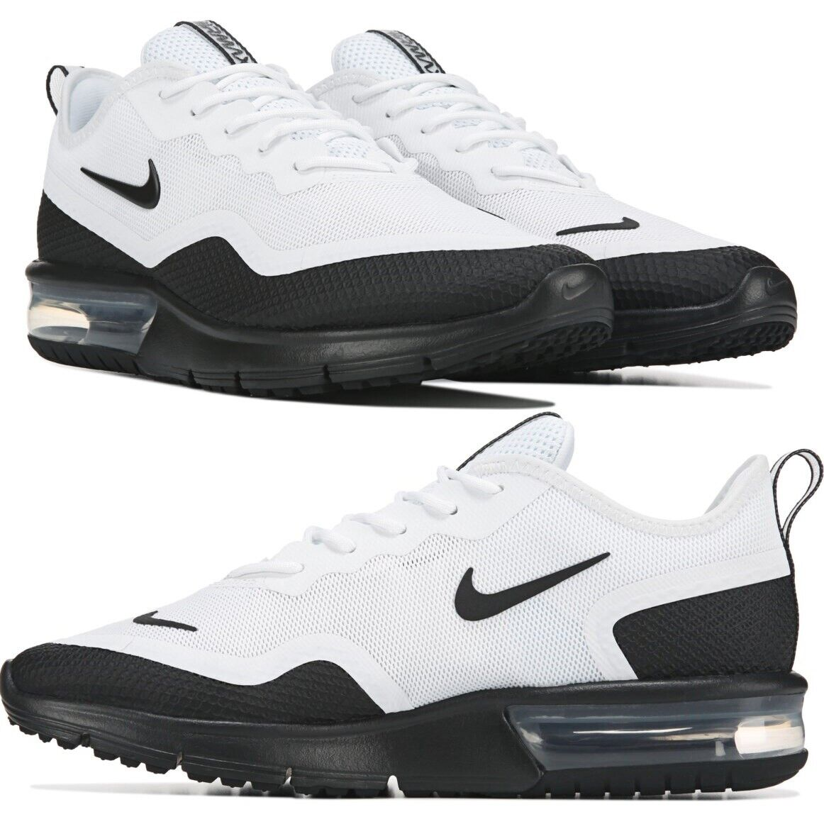 209895d1a0a1b Nike Air Max Sequent 4 White/Black Men's Running Shoes Lifestyle Comfy  Sneakers