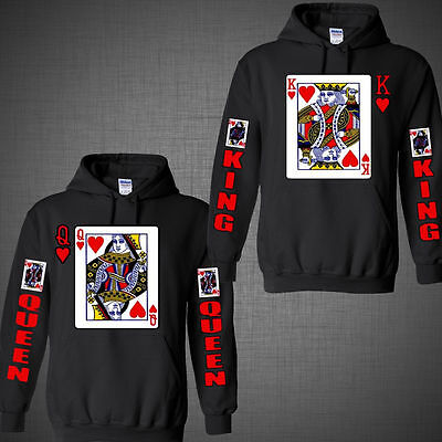Couple matching Hoodie King of hearts Queen Halloween costume Card Games