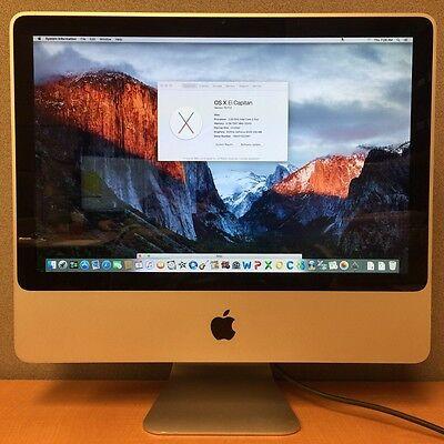 "Apple iMac 7,1 Core 2 Duo 20"" 2.0GHZ 4GB RAM 250GB HD -A1224 - MA876LL/A"