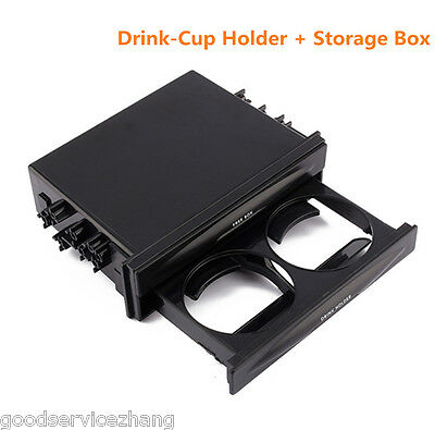 Double Din Radio Pocket Drink Cup Holder Storage Box For Car Vehicle Universal