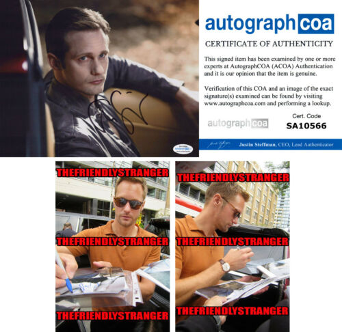 "ALEXANDER SKARSGARD signed Autographed ""TRUE BLOOD"" 8X10 PHOTO d PROOF Eric ACOA"