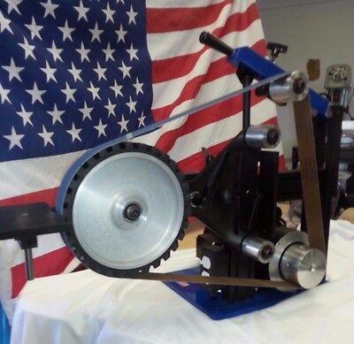 "AMK-77 2X72 Belt Grinder, 1.5hp motor, 12"" Serrated Wheel"