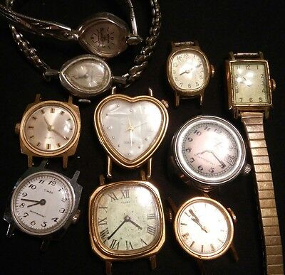 LOT OF VINTAGE WATCHES FOR PARTS