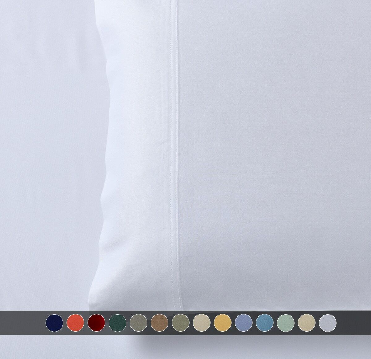 100% Viscose from Bamboo Solid Pattern Pair of Pillowcases S