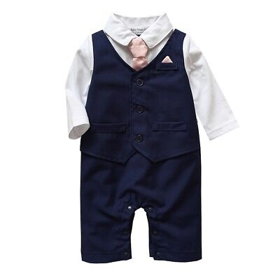 Baby Boy Formal*Party*Wedding*Tuxedo Waistcoat 1pc Outfit Suit in Three Colours (Boys In Tuxedo)