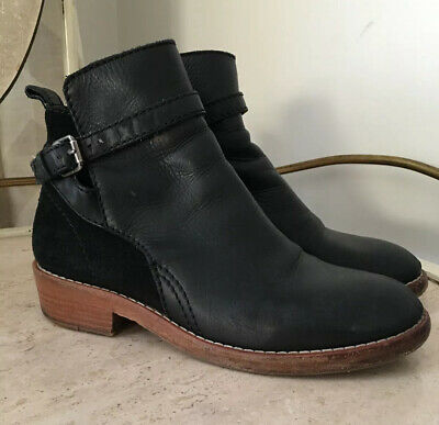 ACNE Studios Womens Black Leather Chelsea Bois Strap Boots EUR 38/8