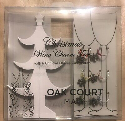Christmas Wine Charm Tree Oak Court Mall Memphis Tennessee 6 Snowflake (Memphis Mall)