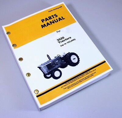 Parts Manual For John Deere 3020 To 123000 Tractor Catalog Exploded Assembly