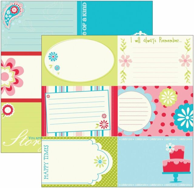 4p Scrapbook Paper 12 Sweet 24 Horizontal 4x6 Journal Card Birthday