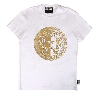 Versace Jeans Couture White 100% Cotton Short Sleeve Knit Medusa T-Shirt-