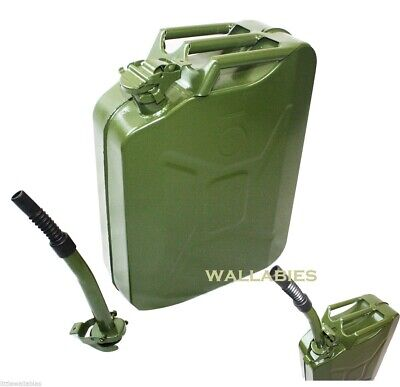 5 Gallon Nato Style 20l Green Jerry Can Oil Fuel Gas Steel Tank W Free Spout
