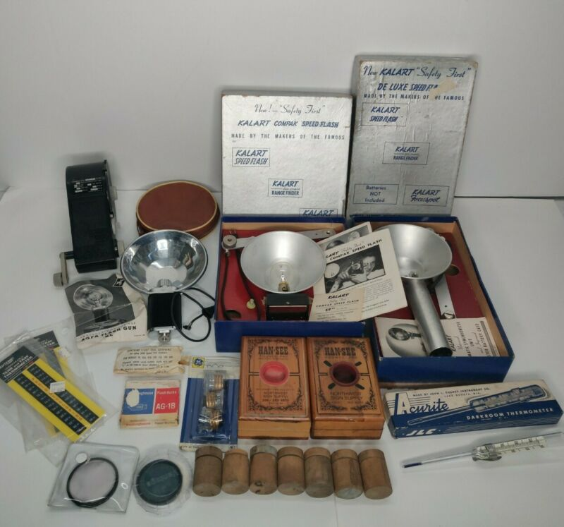 Vintage Lot of Photography Equipment - KALART FLASH WATSON *READ DESCRIPTION