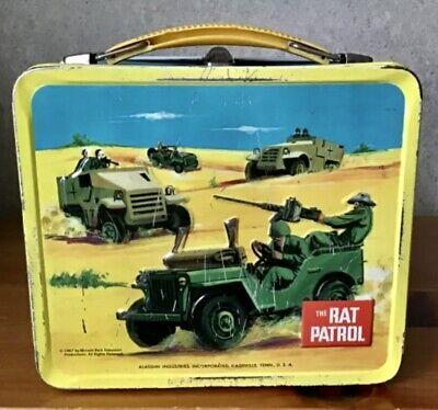 C 1967 metal lunchbox RAT PATROL Alladin