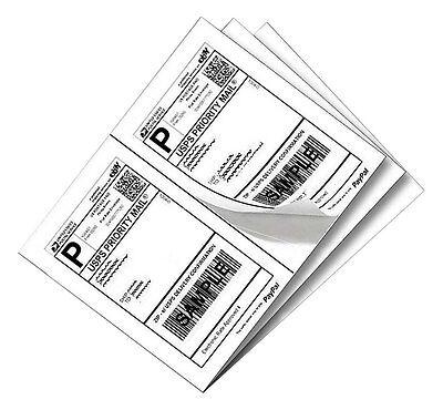 200 Half Sheet Shipping Labels Laserink Jet 5-12 X 8-12 Address Blank Label