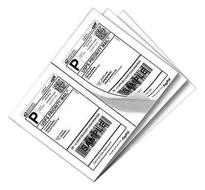 200 Half Sheet Self Adhesive Shipping Labels For Laser Inkjet Printers