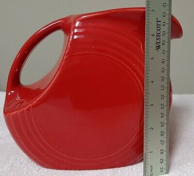 New Fiestaware 7 In Red Pitcher