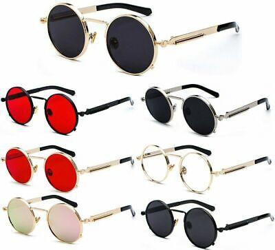 vintage metal frame retro  round sun glasses for women men steampunk sunglasses