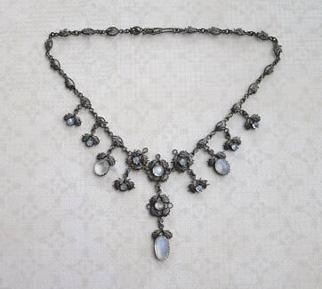 Antique Art Nouveau moonstone necklace c1900 New Lambton Newcastle Area Preview