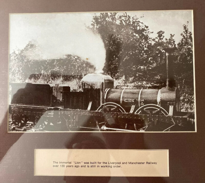 "The IMMORTAL ""Lion"" Liverpool & Manchester Railway Train Engine 1920 Photo"