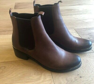 Kennel Schmenger Ladies Brown Leather Ankle Boots- Size 5