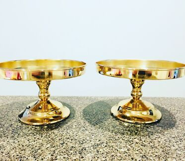 Gold Cake Stands. $10 each or 2 for $17.50