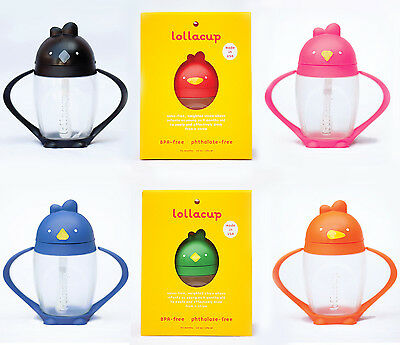 Lollacup Baby Sippy Cup with Straw 10 oz, Various Colors