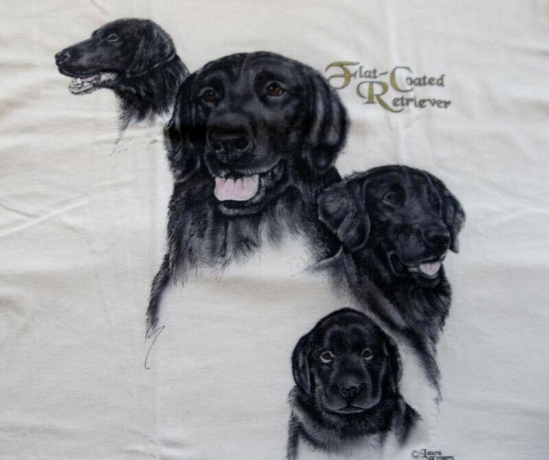 "Flat-Coated Retriever T-shirt "" Natural "" SM ( 34 ~ 36 )"