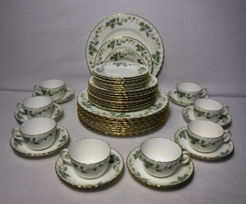 MINTON china GREENWICH S-705 pattern 40-piece SET SERVICE for 8