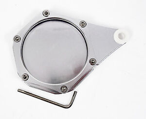 Chrome-round-tax-disc-holder-suitable-for-Piaggio-Vespa-ET4-125-4-Stroke
