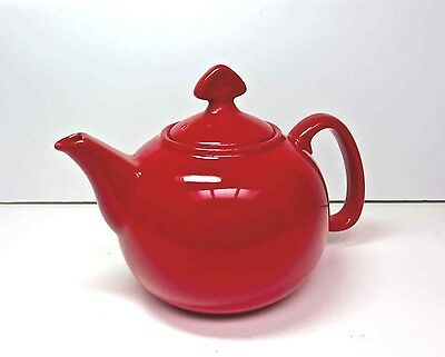Chantal® True Red Stoneware Teapot  4 Cup 1 Qt.