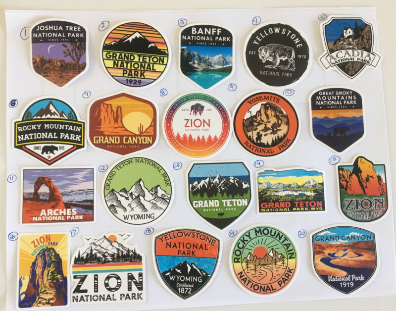 """US National Park Decal Stickers  2"""""""