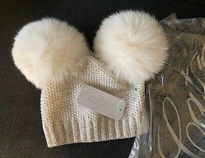 CATYA white/silver real fur hat.
