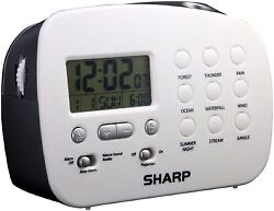SHARP Ceiling Time Projection Alarm Clock With 9 Different Nature Sounds SPC570