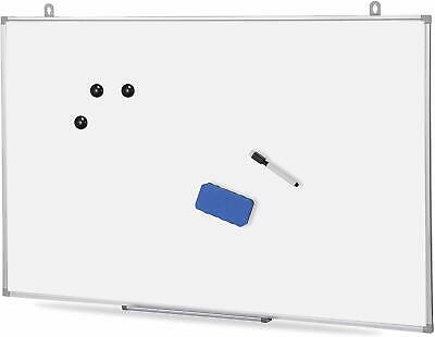 Magnetic Dry Erase Board Whiteboard With Eraser Marker Pen Magnets 36 X 24inch