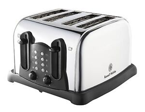Russell Hobbs 4 Slice Toaster Stainless Steel & Black 18099