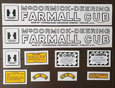Ih Mccormick Deering Farmall Cub - Complete Decal Set For Tractor