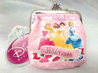 OFFICIAL DISNEY PRINCESS GIRLS TOP CLIP COIN NOTES PURSE WALLET PINK GIFT NEW