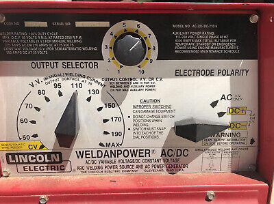 Lincoln Arc Welder Ac-225dc-2106 Various E6013 Welding Sticks Included
