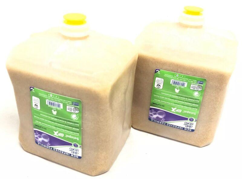 Box of 2 Bottles Deb Stoko Solopol GFX Gritty Foam 3.25 Liter New GPF3LNA