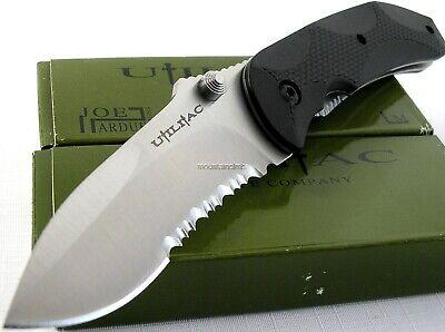 Ontario Joe Pardue Utilitac Tactical Folder Black Handle Knife Combo Edge 8777 Comboedge Black Handle