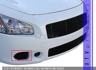 GTG Gloss Black 2PC Bumper Accent Billet Grille fits 2009 - 2014 Nissan Maxima ()