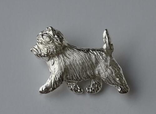 Large Sterling Silver Cairn Terrier Brooch