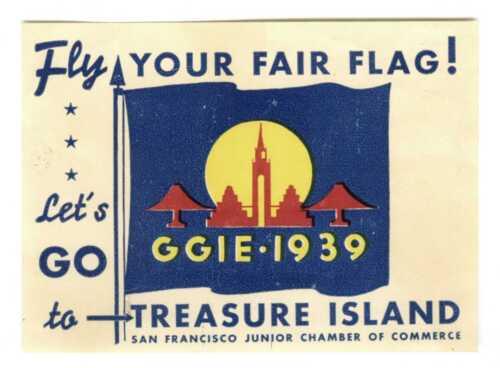 1939 GGIE SAN FRANCISCO GOLDEN GATE EXPOSITION~RARE WORLD