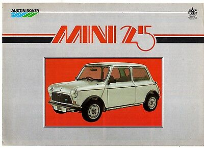 Austin Mini 25 Limited Edition 1984 UK Market Sales Brochure