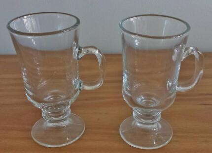 Pair of Irish Coffee Glasses Elanora Heights Pittwater Area Preview