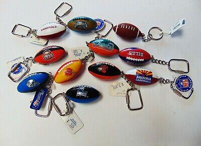 Lot of 9 - NFL Football - Keychains - Key Fob - Lil Sports Brat