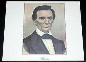OLD-1950S-CURRIER-IVES-LITHO-PRINT-A-LINCOLN-EARLY-AMERICAN-PORTRAIT